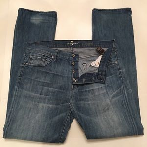 7 For All Mankind Standard Button Fly Jeans Sz 34
